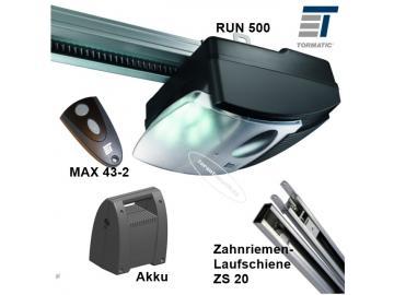 Run 500 Accu Set mit Zahnriemenlaufschiene