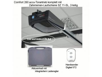 Marantec Comfort 260 accu Garagentorantrieb mit Schiene SZ11