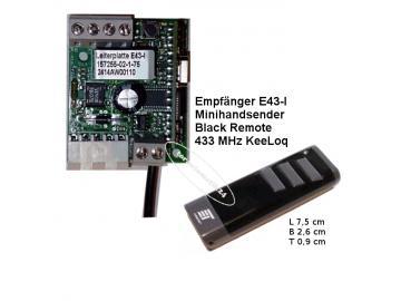 Empfänger E43-I, Black Remote Handsender 433MHz